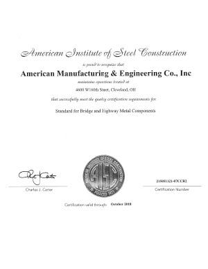 AISC Bridge Certification