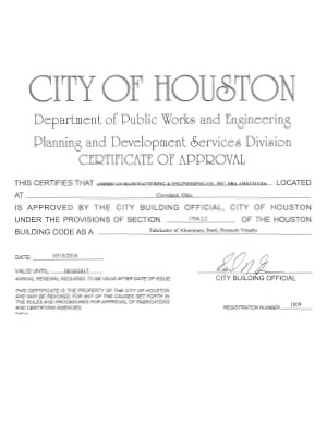 Houston Approved Fabricator